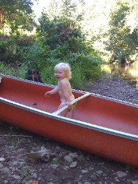 This old, orange canoe became a part of our family.