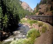 Traveling on the California Zephyr  through Glenwood Canyon, Colorado