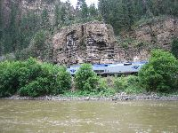 The Calilfornia Zephyr VistaDome Glenwood Canyon, CO.