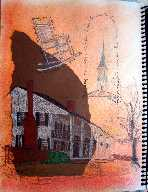 Sketchbook Impression of Cool Springs Tavern, Fayetteville, NC.